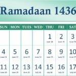 Ramadhan Calendar 1436