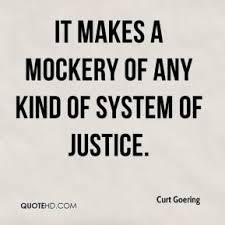 justice mockery