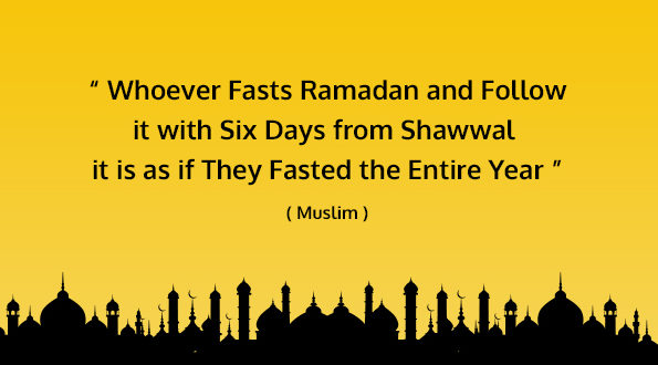 After Ramadan, Try to keep the 6 Fasts of Shawwaal.