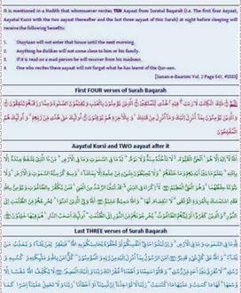 Benefits of Surah Al-Baqara – Jamiatul Ulama KZN
