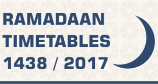 Ramadaan Timetables graphic 1438