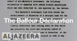 "Fisk: ""We shouldn't feel 'proud' about the Balfour Declaration"""
